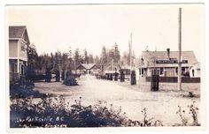 RPPC of a street scene in Parksville, Vancouver Island, B.C. circa 1925  http://stores.ebay.ca/circa1930s-vintage-postcards?_rdc=1