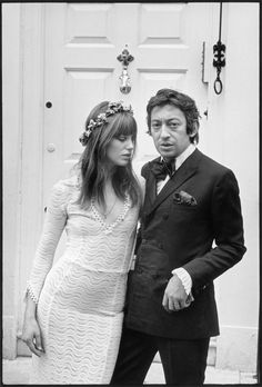Photo de Serge Gainsbourg et Jane Birkin à Londres en 1970, à voir à La Galerie de l'Instant durant l'exposition Serge Gainsbourg