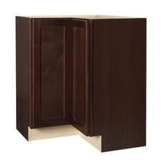 $297 X 2 Hampton Bay 28.375x34.5x16.5 in. Lazy Susan Corner Base Cabinet with Two 360° Independently Rotating Metal Racks in Java-KBLS36-SJM at The H...