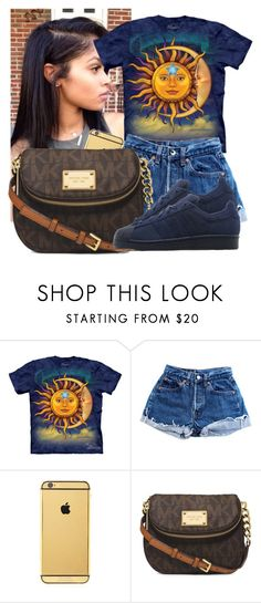 """🌜🌞🌛"" by awesomeblossom23 ❤ liked on Polyvore featuring Levi's, Goldgenie, Michael Kors and adidas Originals"