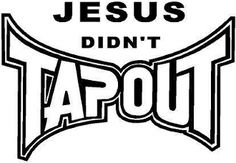 New Custom Screen Printed T-shirt Jesus Didn't Tapout Religious
