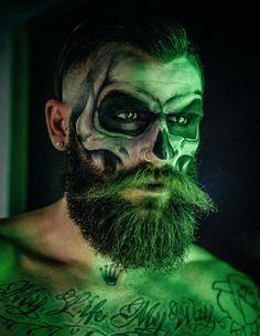 skull make up with beard - Pesquisa Google