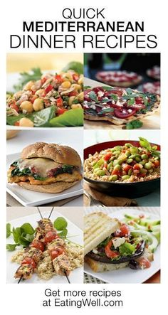 Quick dinner recipes for a healthy Mediterranean diet
