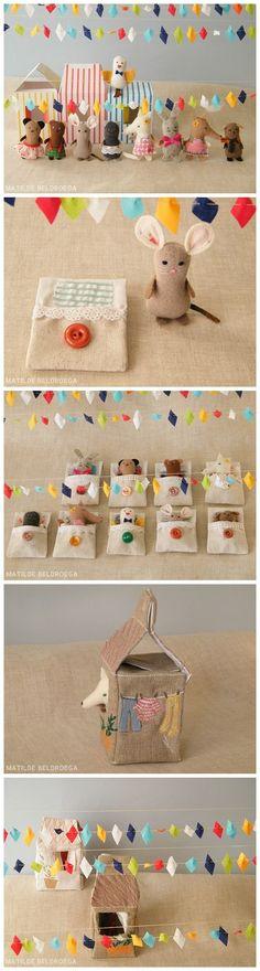 Adorable softies toys ~ Sleepover party ~ Matilde Beldroega by Rita Pinheiro. - Toys for children Sewing For Kids, Diy For Kids, Crafts For Kids, Softies, Felt Crafts, Diy Crafts, Craft Projects, Sewing Projects, Ideias Diy