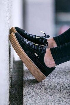 5f73583247c shoes rihanna puma creepers rihana puma creepers suede Puma Creepers  Outfit