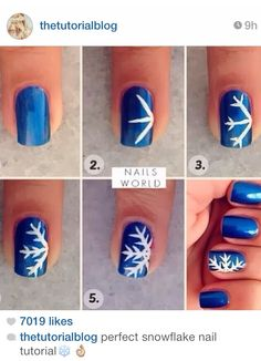 Cute snowflake nails! :)