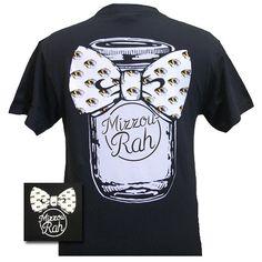 Missouri Tigers Mizzou Mason Jar Big Bow Bright T-Shirt | SimplyCuteTees