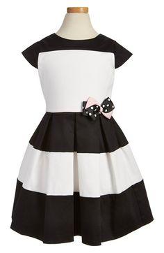 Little Angels Colorblock Cap Sleeve Dress (Toddler Girls & Little Girls)