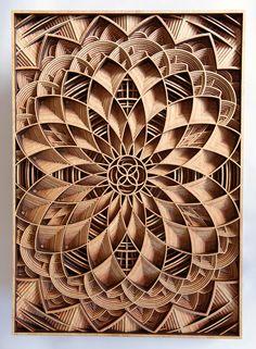 Pode ser um corte da imagem. Cortando ao meio parece flor de lotus