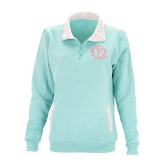 Mint Gingham Pullover on Sale