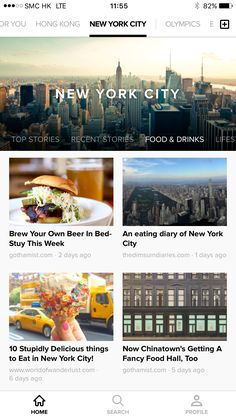 Notey App - Local Guide Page - Download here: https://itunes.apple.com/us/app/notey-your-window-to-blogosphere/id545231215?mt=8     #interface