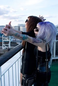 Image via We Heart It https://weheartit.com/entry/22192677 #alternative #blackdress #clothes #couple #dress #fashion #fly #friends #girl #girls #hair #Ladygaga #lesbian #lesbians #littleblackdress #perfecthair #piercing #purplehair #redhair #sunglasses #tattoo #tattooed #tattooedgirl #Tattoos #titanic #colorfullhair #relashionship #notladygaga #perfectbag #pastelgoth