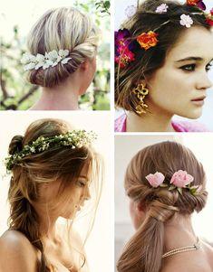 La primavera está a punto de llegar, prepárate con los mejores peinados para recibirla.   #Peinados para la primavera   Corona de flores   Bienvenida #primavera.