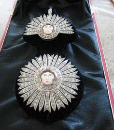 Iran Persia Ghajar Order of Aaftaab Diamond Set Grand Cross set