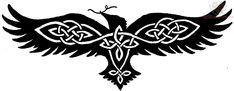 Celtic Crow Raven Tattoo Design