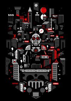 Graphic Illustration by Bunka , via Behance
