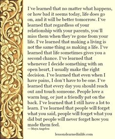 Lessons Learned in Life   Quote of the Day