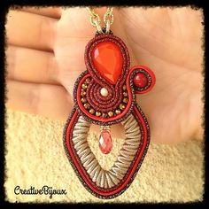 #ciondolo #soutache #handmade #fattoamano #fashion #love #natale