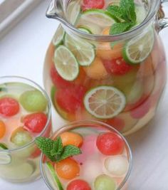 Sounds wonderful and very refreshing but it isn't sangria. Sangria has wine in it. Cocktails To Try, Summer Cocktails, Cocktail Drinks, Whiskey Cocktails, Refreshing Drinks, Fun Drinks, Yummy Drinks, Beverages, Sangria Recipes