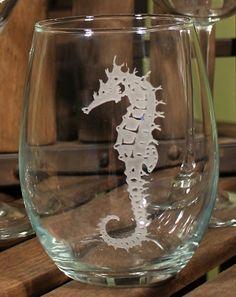 Seahorse Stemless Wine Tumblers