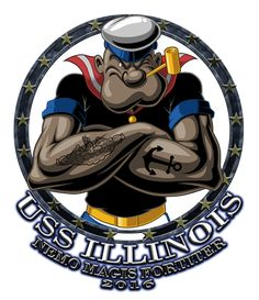 USS Illinois SSN-786 Popeye Shirt