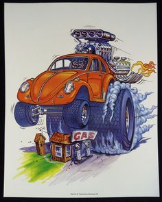 "Ed ""Big Daddy"" Roth 7 Color Poster Set Rat Fink '97 Mr Gasser Surfink VW 