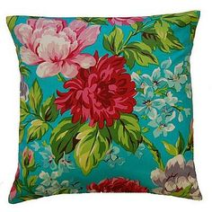 Dahlia Turquoise Cushion, from £6.00.