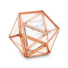 Rose Gold Terrarium Style Wedding or Engagement Ring Holder features a hinged lid.Use it as a wedding ring box, jewelry box or a mini glass terrarium for birthdays, weddings, anniversaries, engagements and more. Glass Jewelry Box, Copper Jewelry, Glass Ring, Jewelry Stand, Jewellery Box, Engagement Ring Holders, Engagement Rings, Wedding Ring Box, Ruby Wedding