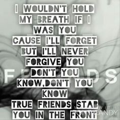 True Friends Bring Me the Horizon one of my favorites from the album Band Quotes, Song Lyric Quotes, Music Lyrics, Music Quotes, Music Is Life, My Music, Music Stuff, Bring Me The Horizon Lyrics, Friend Poems