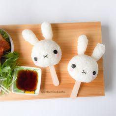 Miffy Sushi - Little Miss Bento Japanese Food Art, Japanese Sweets, Kawaii Cooking, Bento Kids, Cute Bento Boxes, Kawaii Bento, Cute Baking, Bento Recipes, Food Humor