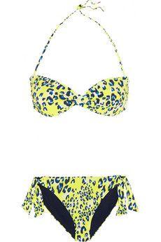 Matthew Williamson Escape leopard-print bandeau bikini  | NET-A-PORTER