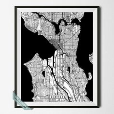 Seattle Print Washington Poster Seattle Poster by VocaPrints