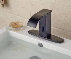 >> Click to Buy << Automatic Touchless Sensor Waterfall Bathroom Sink Vessel Faucet Oil Rubbed Bronze with Hole Cover Plate #Affiliate