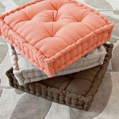 tufted floor pillows