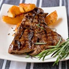 Steak with Cream Pepper Sauce