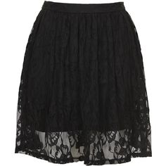 TOPSHOP **Skater Skirt by WYLDR (€19) ❤ liked on Polyvore featuring skirts, bottoms, black, lace circle skirt, knee length skirts, flared skirt, topshop skirt and knee high skirts