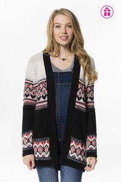 Get the latest trends in women's clothing at Ardene. Shop fashion tops, bottoms, dresses, and more in a variety of styles, fabrics and prints for all seasons. Girl Outfits, Cute Outfits, Fashion Outfits, Womens Fashion, Coral Print, Sweater Shop, Sweater Cardigan, Ivory, Clothes For Women
