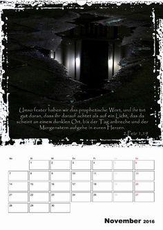 Kalender - Christliche Monatssprüche - November