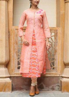 Orange cotton tunic #vasansi #jaipur #vasansijaipur #shopnow http://www.vasansi.com/casual/tunic/