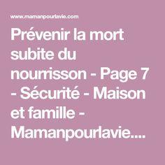 Prévenir la mort subite du nourrisson - Page 7 - Sécurité - Maison et famille - Mamanpourlavie.com