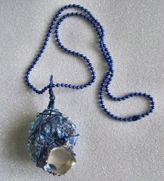 OOAK Handcrafted Natural Sea Shell Wire Wrapped Pendant Necklace! by Bren