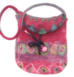 Handmade Felted Purse Felt Bag  Shoulder Bag ★by FrouFrouFelt