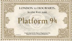 Jessie from the blog: DIY: Hogwarts acceptance letter & Platform 9 3/4 ticket.