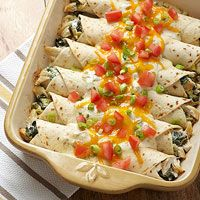 Creamy Chicken Enchiladas/ prepare to step 4 cover with plastic wrap then foil label & Date freeze up to 3 months