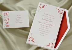 Cherry Blossom wedding invitations from Wedding Invitations-The Office Gal number 5610