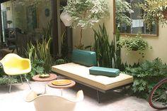 classic modern furnishings used on an outside terrace.