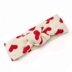 Stay warm on Valentine's Day with the SIJJL Heart Wool Headwrap