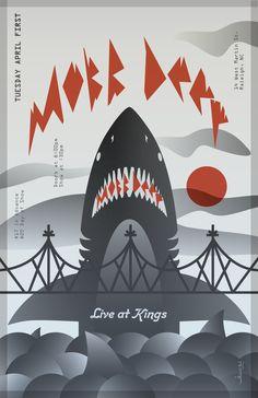 Mobb Deep Poster by Helen Shaffer, via Behance
