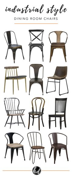 Looking for affordable Modern Industrial Dining Chairs for your dining room? Look no further! Find 12 affordable Modern Industrial Dining Chairs right here. Industrial Dining Chairs, Farmhouse Dining Chairs, Vintage Industrial Decor, Industrial Interiors, Metal Chairs, Industrial Farmhouse, Modern Dining Room Chairs, Metal Kitchen Chairs, Chairs For Dining Table