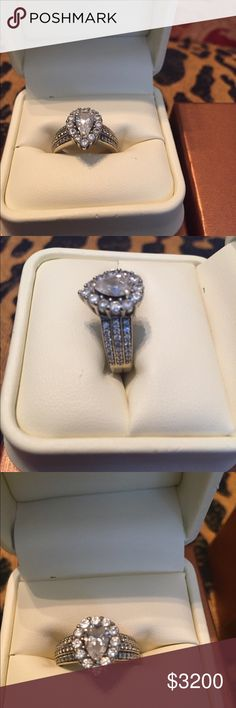 Jared Engagement Ring Band Size 9 10k White Gold Engagement Ring